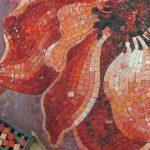 Mosaic art in modern interior