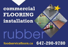 Toronto rubber flooring installation