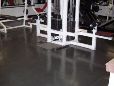Rubber flooring in GYM